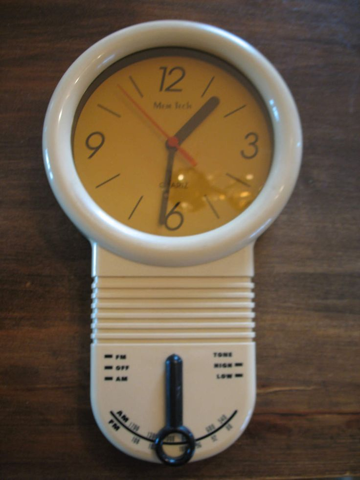 Vintage horloge radio mural quartz de marque Mem Tech des années 50/60 de la boutique NorDass sur Etsy