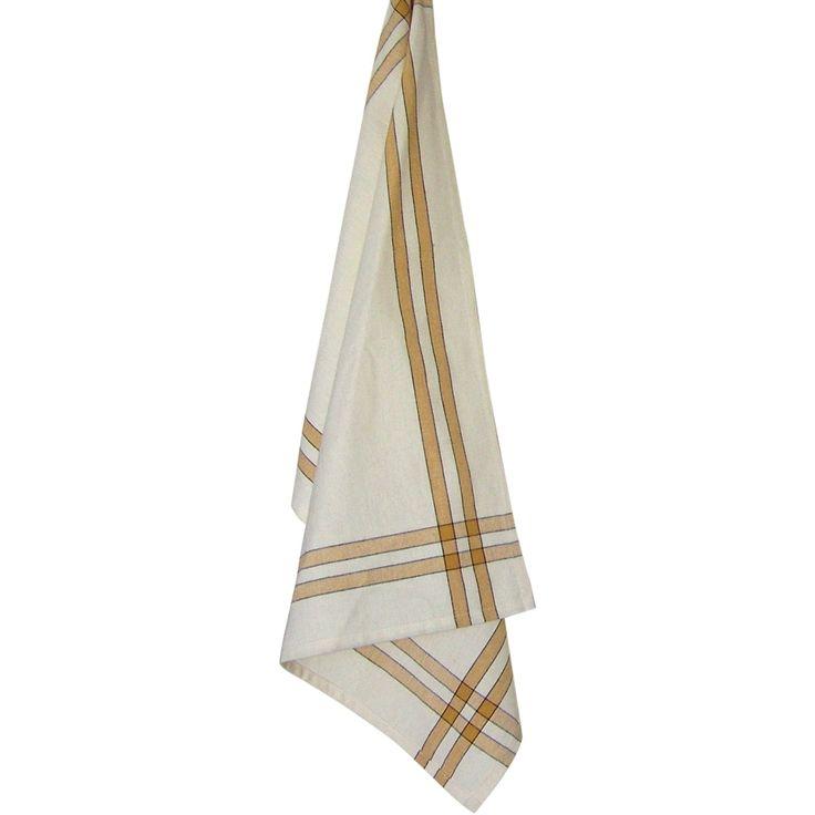 "Dunroven House Cream Tea Towel 20""X28""-Pumpkin Stripe - pumpkin stripe"
