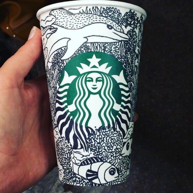 Sea life themed cup doodle!
