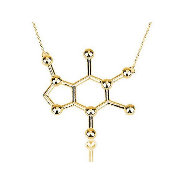 Caffeine Molecule Necklace – Konets Boutique