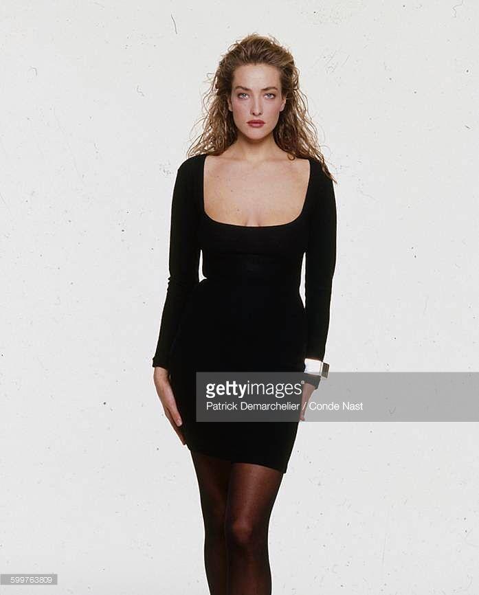 News Photo : Model Tatjana Patitz wearing Azzedine Alaia's...