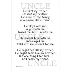 Uncle From Niece Quotes by @quotesgram