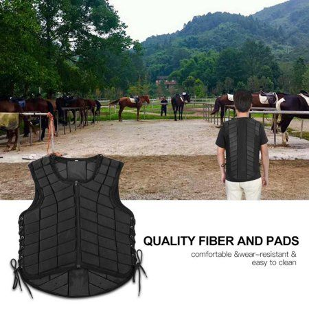 Unisex Equestrian Protective Vest Horse Riding Body Protector Safety Waistcoat