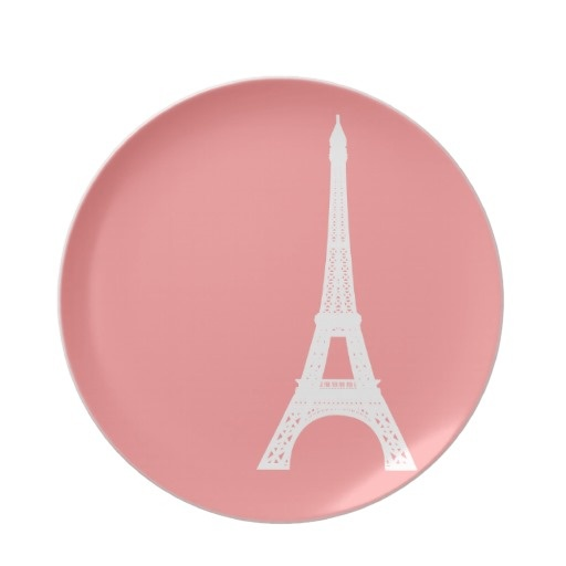 Eiffel Tower Pink Dinner Plate  sc 1 st  Pinterest & 151 best Eiffel Tower Souvenirs images on Pinterest | Beautiful ...