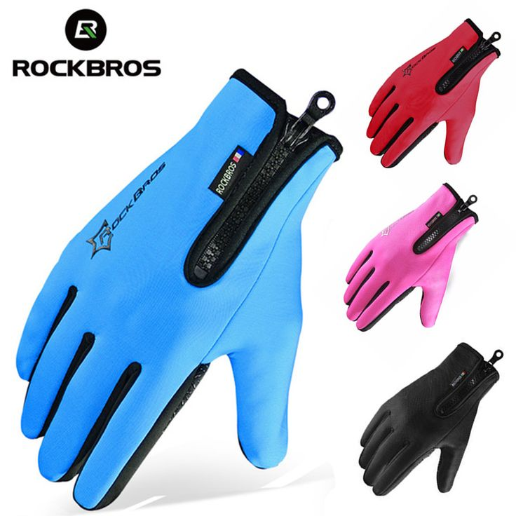 ROCKBROS Winter Skiing Fleece Thermal Ski Gloves Snowboard Warm Sport Motorcycle Hiking Full Finger Men Women Glove Touch Screen. Click visit to buy this product