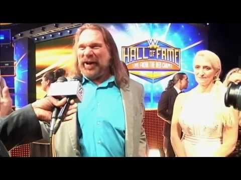 Jim Hacksaw Duggan at the WWE Hall of Fame.