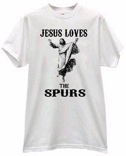 JESUS LOVES THE SPURS BASKETBALL WHITE T SHIRT - http://www.nbamixes.com/jesus-loves-the-spurs-basketball-white-t-shirt - http://www.nbamixes.com/wp-content/uploads/2013/02/41aZ-M-2Bt35L1.jpg