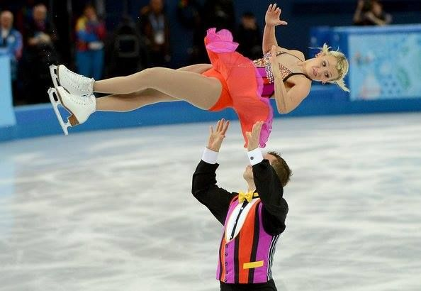 Canada's Kirsten Moore-Towers and Dylan Moscovitch perform their figure skating pairs short program at the Winter Olympics at the Iceberg Skating Palace in Sochi, Russia, Tuesday, Feb. 11, 2014. (Chuck Myers/MCT via Getty Images)