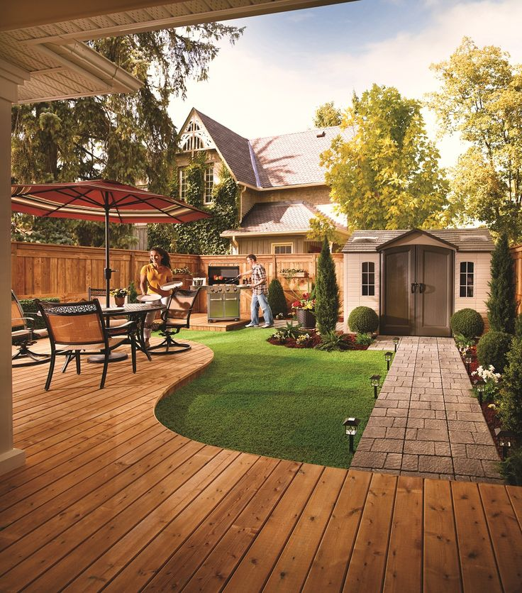 A patio and walkway add some style to the backyard