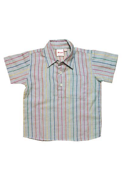 California shirt multi-stripes