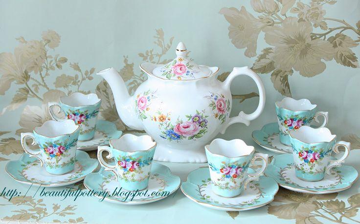 Beautiful Pottery Vintage Teaset Teacups Amp Teapots