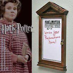 Harry Potter Hogwarts Proclamation Board, I NEED this!!