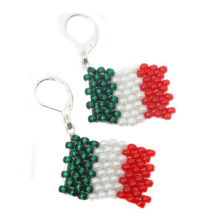 Ohrringe - Ohrhänger - Flagge Italien - Fußball WM 2018 - Fanartikel