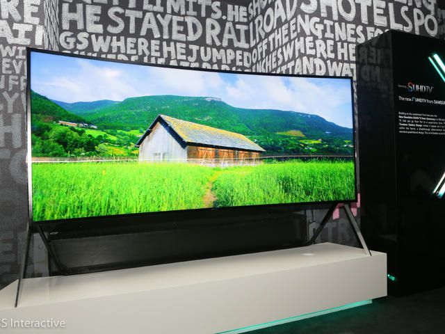 Samsung 105-inch bendable TV: Preview - CNET