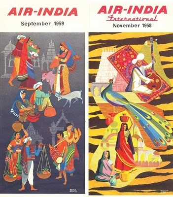Air India timetables Sept 1959 & Nov 1958
