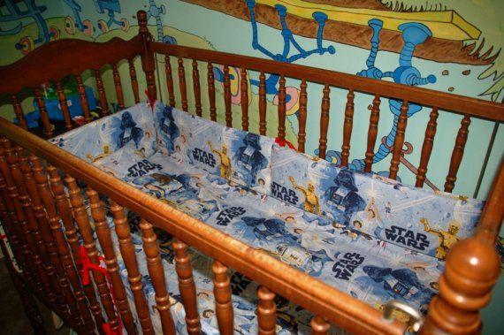 Crib set made from star wars sheets