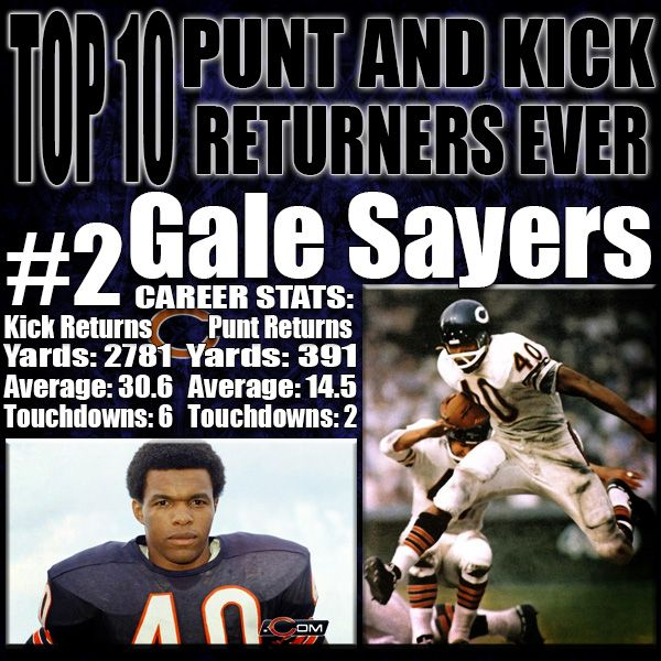 Gale Sayers showed dominance returning both kicks and punts while he was the starting running back for the Chicago Bears. He was clearly their best player on offense and their success was determinant on Sayers. His 30.6 average yards per kick return will be a record that is guaranteed to never be broken with the kickoffs now be made on the 30 yard line. http://www.prosportstop10.com/top-10-best-punt-and-kick-returners-in-nfl-history/