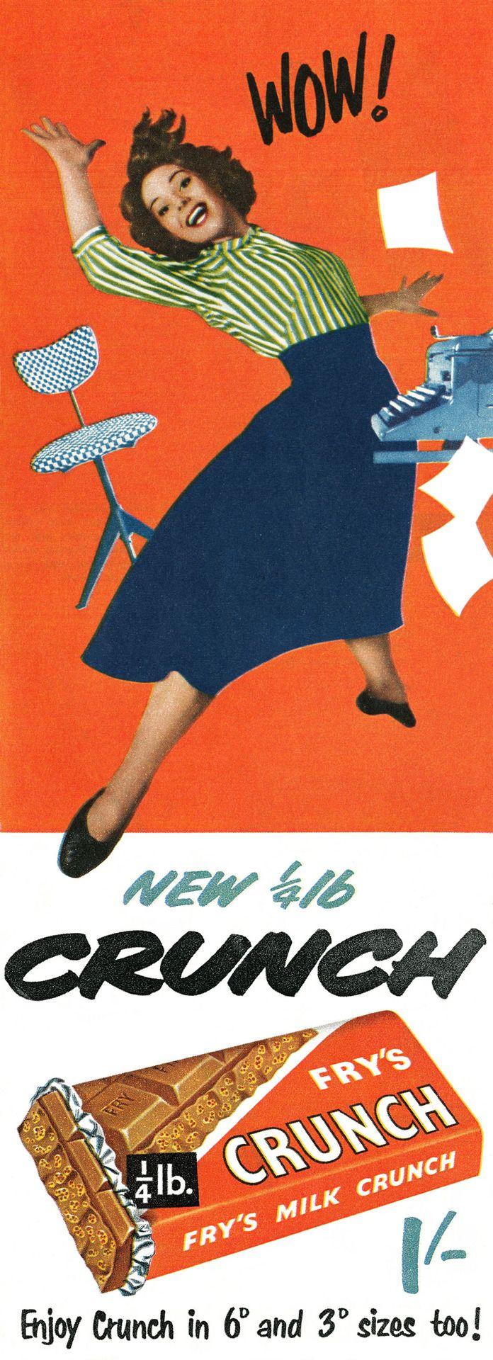 Poster design 1950 - Crunch Bar Ad