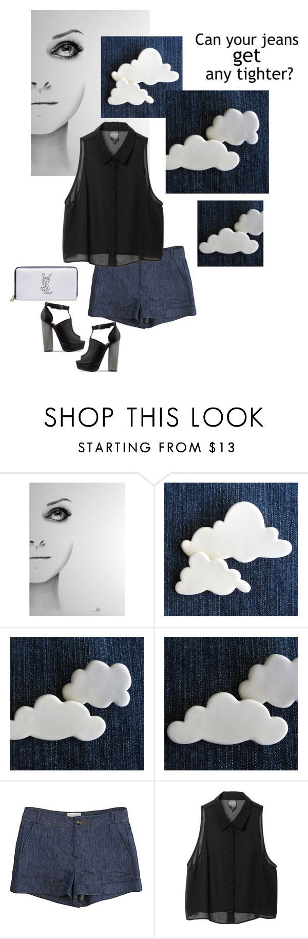"""""""Untitled #3618"""" by dream-flying ❤ liked on Polyvore featuring Black Swan, Band of Outsiders, Monki and Yves Saint Laurent"""