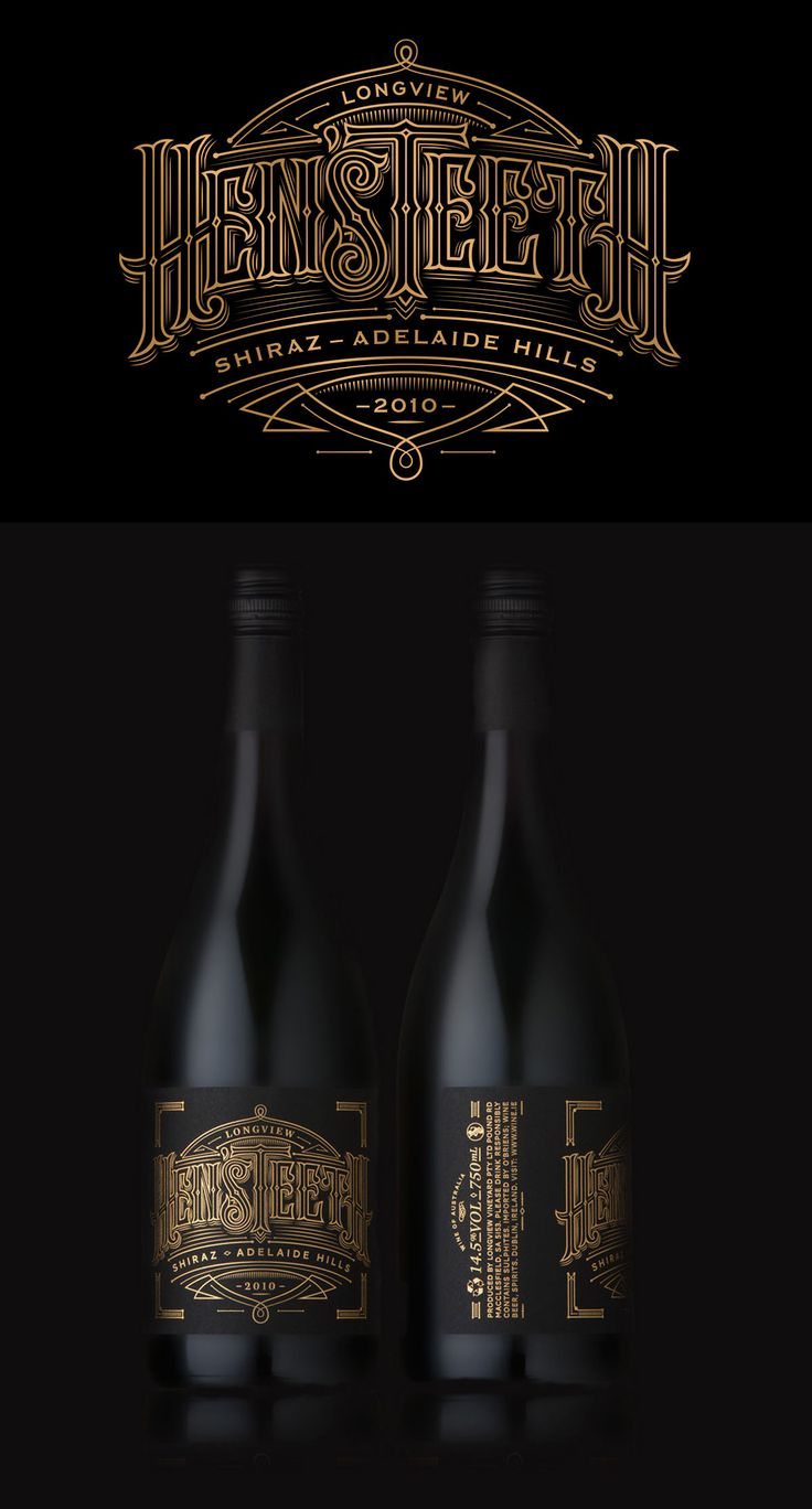 Hen's Teeth Wine Packaging Design