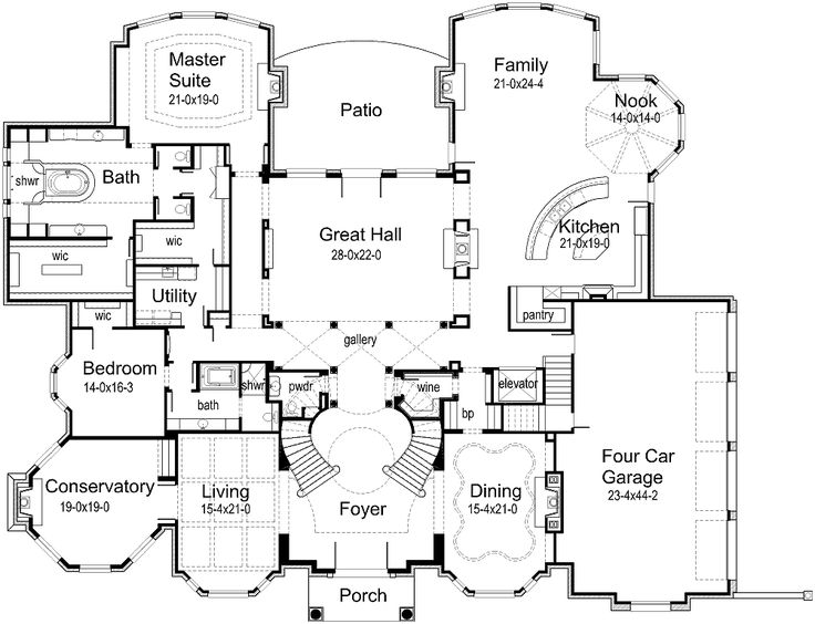 17 best images about house plan on pinterest luxury for Mansion house plans with elevators