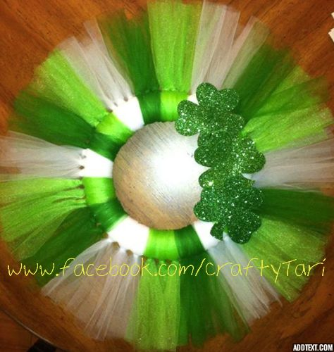 St. Patty's Day tulle wreath