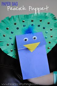 I HEART CRAFTY THINGS: Peacock Puppet Craft + Elmer's Early Learners Prize Pack and $25 Visa Gift Card Giveaway