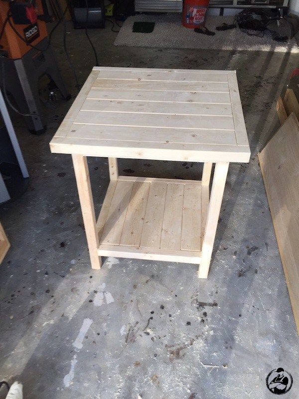 Diy Simple Square Side Table Plans Step 12 Square Bedside Table Diy Side Table Bedside Table Diy