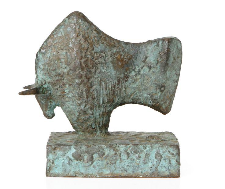 Kari Juva, pronssi, k. 21 cm, lev. 21 cm - Hagelstam A124