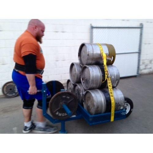 Adrenaline Wheel Barrow. Not your typical garden wheel barrow. Keg plus plate loaded design. This wheel barrow has been loaded to over 2000 lbs. #adrenalineequipment #strongman #strongmanwheelbarrow #strongmanequipment.