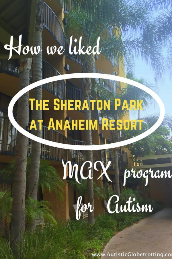 The Sheraton Park Hotel at the Anaheim Resort is located at 1855 South Harbor Boulevard. The autism friendly hotel is close to the Disney Theme Parks and Anaheim Convention Center. Since the hotel is directly on Anaheim's main thoroughfare guests can easily access multiple restaurants and shopping venues.