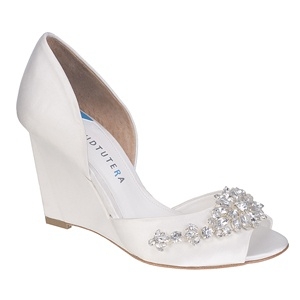 david tutera wedge wedding shoes now at myglassslippercom httpwww