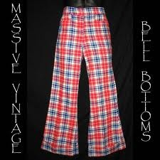 Plaid bell bottoms - I hated that I had to wear my sister's hand me downs of these