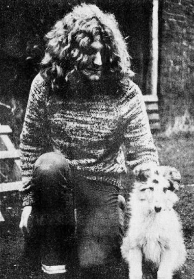 Robert Plant and his dog Strider.