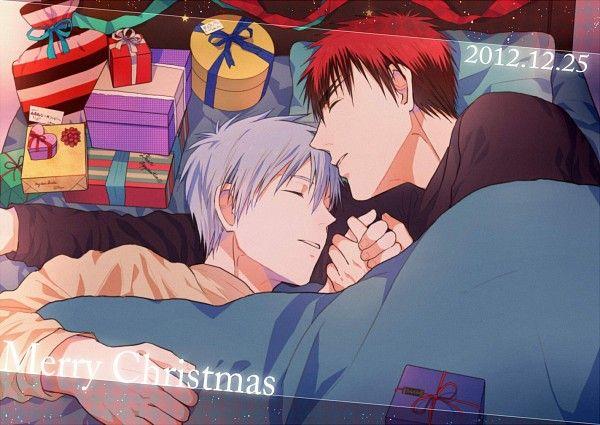 Tags: Anime, Christmas, Gift, Eyebrows, Kuroko no Basket, Kuroko Tetsuya, Kagami Taiga