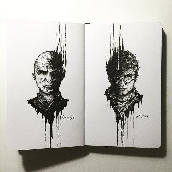 Harry Potter & Voldemort sketch book