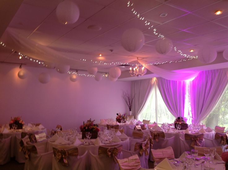 Adelaide Wedding Room Decor With Paper Lanterns Fairy Lights And Wall Lighting