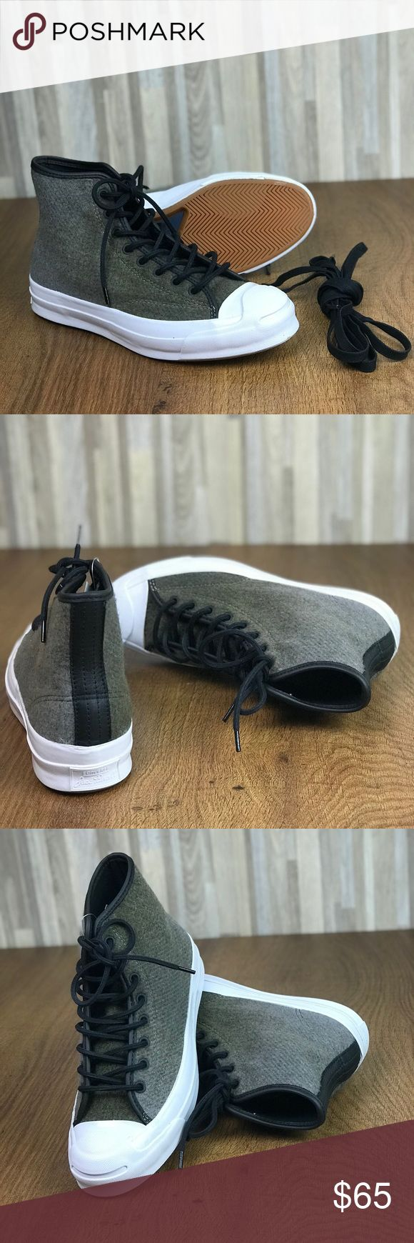 Converse&Woolrich Jack Purcell Signature HT JUTE W Brand new with no lid box. Price is firm! No trades.  True to size.                           Materials: wool upper, rubber sole.                                - Round cap toe - Contrast construction - Converse brand logo - Lace-up closure - Lightly padded footbed - Rubber bumper - Grip sole Converse Shoes Sneakers