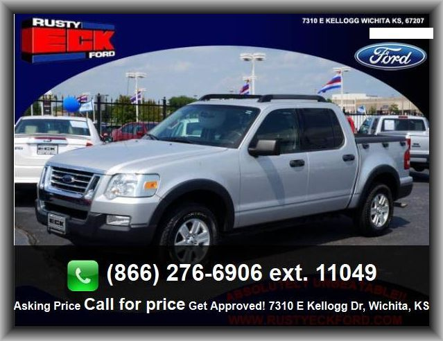 2009 Ford Explorer Sport Trac XLT Pickup  External Temperature Display, Plastic/Rubber Shift Knob Trim, Rear Hip Room: 55.5,