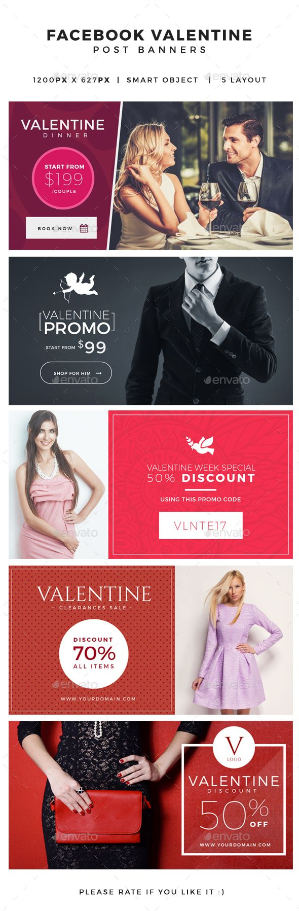 Valentine Facebook Post Banners,ads, banner, boutique, creative, discount, ecommerce, facebook, facebook post, festival, gift, love, modern, pink, post, promo, promotion, romance, sale, sale season, shop, valentine