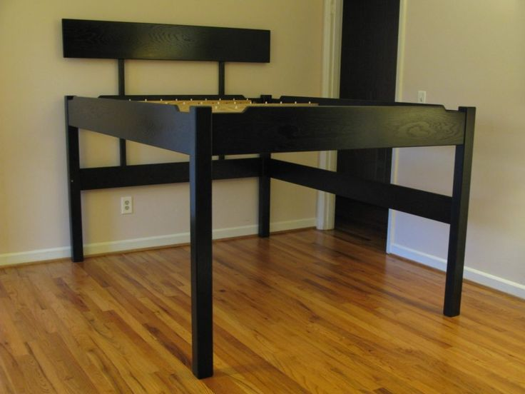 Best 20 tall bed frame ideas on pinterest pallet platform bed master bedroom furniture - Extra tall queen bed frame ...