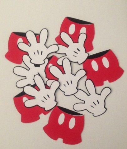 Mickey Mouse hand/pants die cuts. Decor