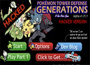 Pokemon Tower Defense Generations Hacked
