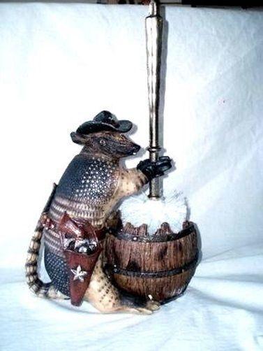 Armadillo Texas Toilet Bown Brush Holder | eBay