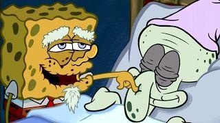 Spongebob's Game Frenzy - Old Spongebob Grandpa Funny Wake Up Call - Nicklodeon Kids Games - YouTube