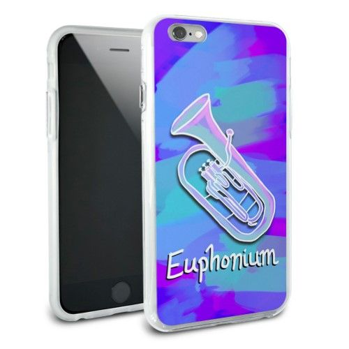 Euphonium - Musical Instrument Music Brass Band Snap On Protective Slim Hybrid Rubber Bumper Case for Apple iPhone 6/6s Plus