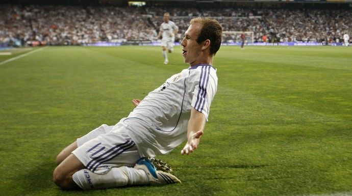 Robben Real Madrid x Barcelona (Foto: Getty Images)