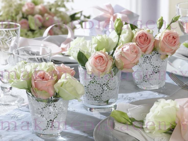 Tischdeko: Table Settings, Centerpiece, Lace, Table Decoration, Shabby ...