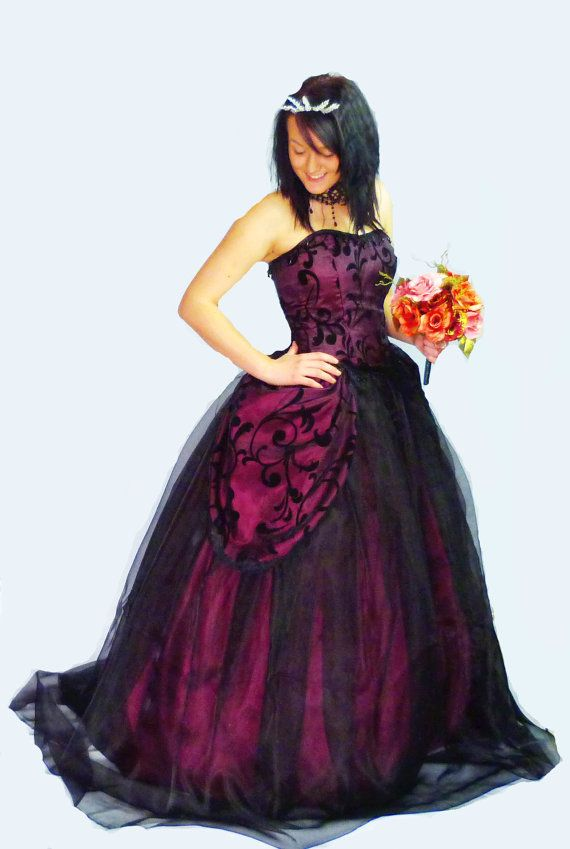 Beautiful purple gothic wedding gown £170 GBP | Gothic ...