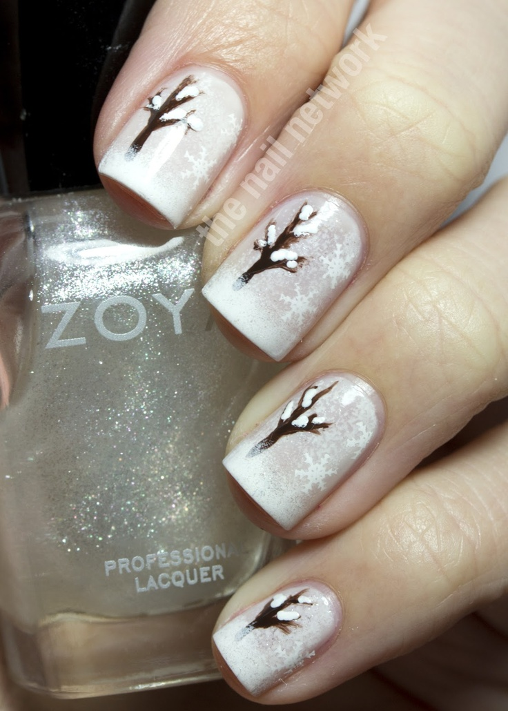 Rbl Bella Followed By Sponging With Konad White On The Tips Of My